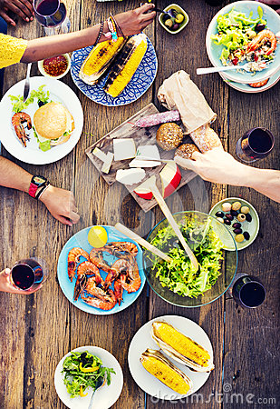Free Food Table Celebration Delicious Party Meal Concept Royalty Free Stock Photography - 57352397