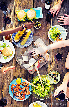 Free Food Table Celebration Delicious Party Meal Concept Royalty Free Stock Photo - 66005275