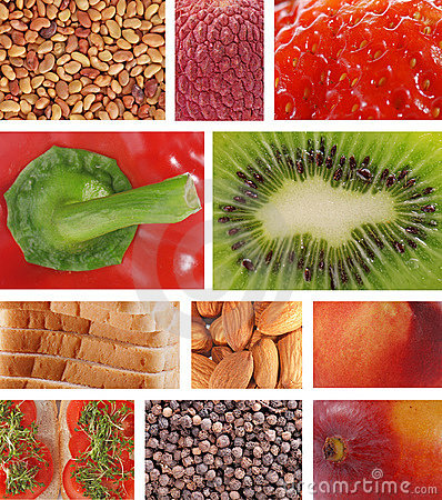 Food textures collage