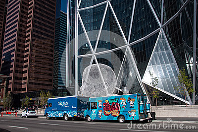 Food trucks in Calgary Editorial Photography