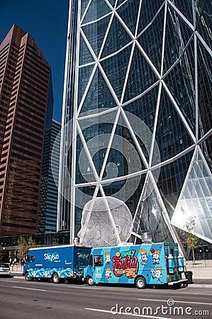 Food trucks in Calgary Editorial Stock Photo