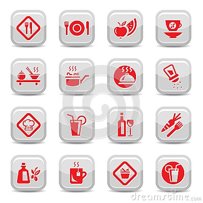 Food type icon set