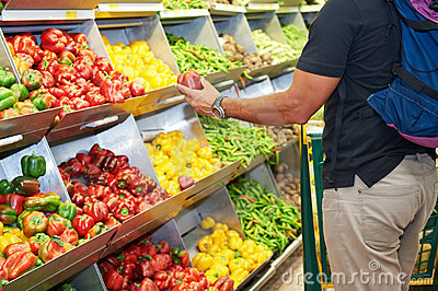 Food vegetable and fruit shopping