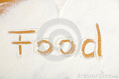 Food written in flour