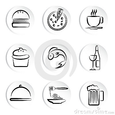 Free Foods Icons Royalty Free Stock Photos - 13157468