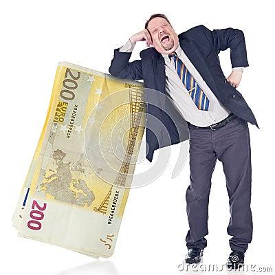 Foolish banker trusting euro