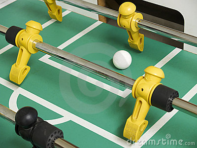 Foosball close-up