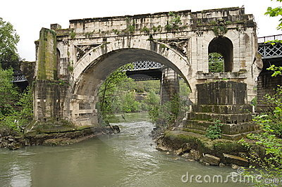 Foot bridge in Rome