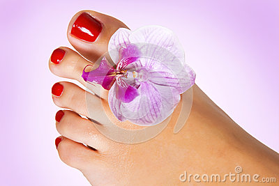 Foot with flower