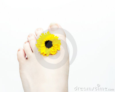 Foot and Flower