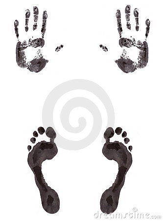 Foot and hand print