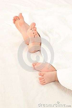 Foot of infants