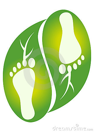Foot leaf logo