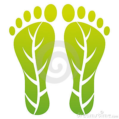 Foot leaf print