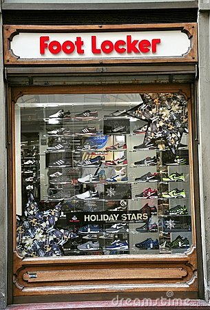 Foot Locker shoe store in Italy Editorial Photo