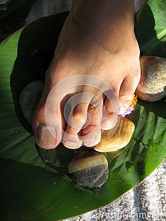 Free Foot Massage Stock Photography - 614142