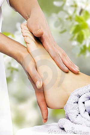 Free Foot Massage In The Spa Salon Royalty Free Stock Image - 19698866