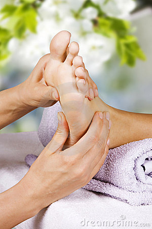 Free Foot Massage In The Spa Salon Stock Photography - 22112562