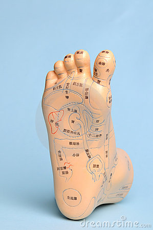 Free Foot Massage Model Stock Image - 13611211