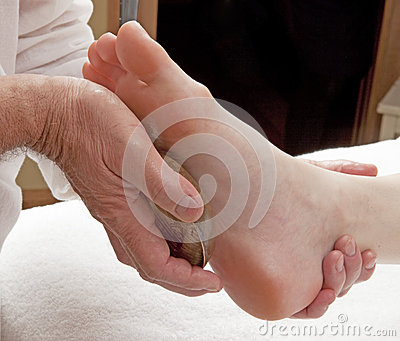 Foot massage for wellbeing