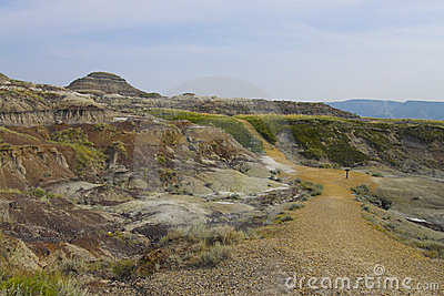 Foot path in Dinosaur Provincial Park