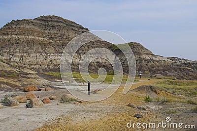 Foot path in Dinosaur Provincial Park
