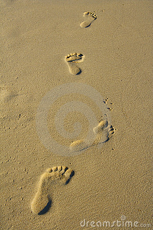 Free Foot Prints Royalty Free Stock Image - 1584006
