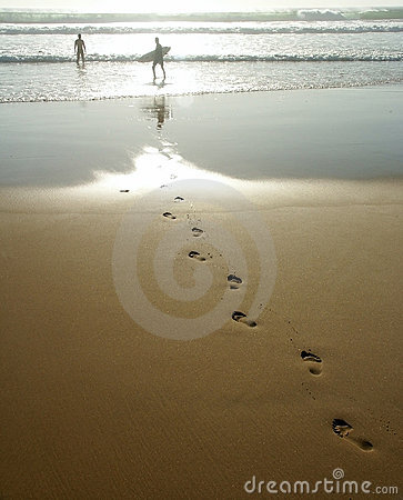 Free Foot Prints In The Sand Stock Photos - 270483