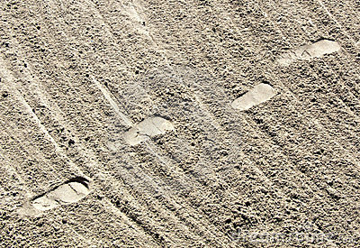 Foot Prints and Sand