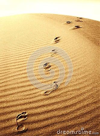 Footprints in the sand tattoo ideas