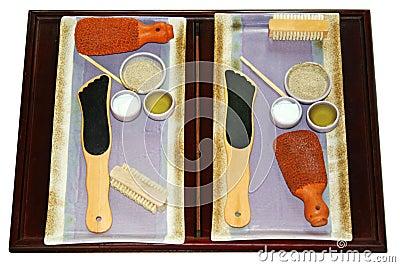 Foot Scrub Spa Materials