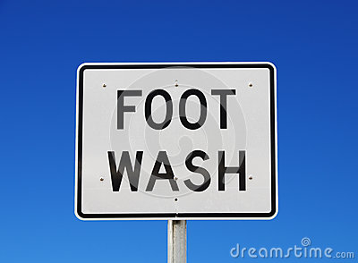 Foot Wash Sign