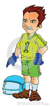 Footbal Player, illustration