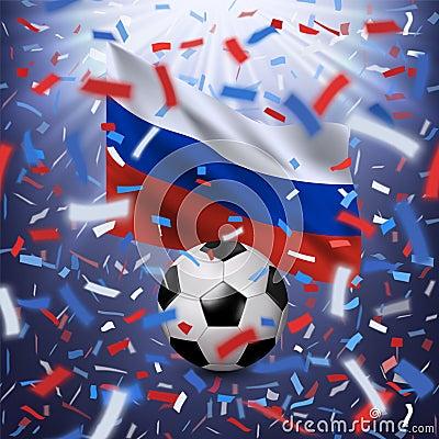 Free Football 2018 World Championship Background Royalty Free Stock Image - 119585076