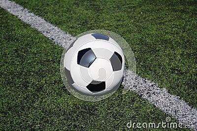 Football on astro turf