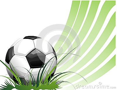 Football background with ball
