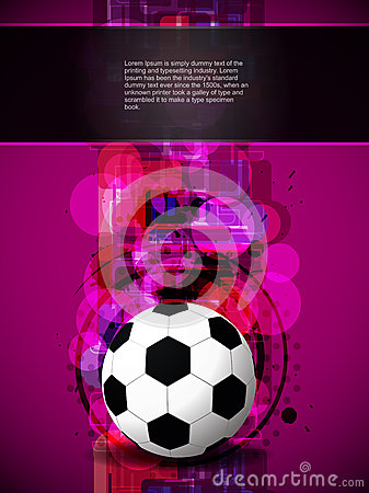 Football background with colorful modern design.