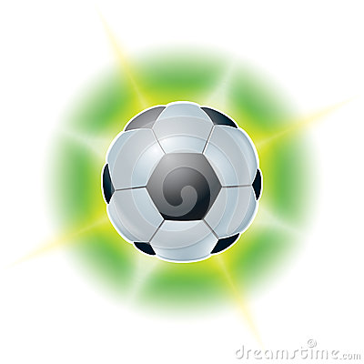 Football ball. Abstract illustrations