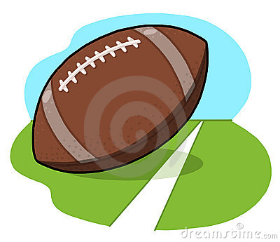 Football ball on field illustration