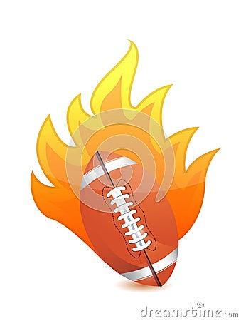 Football Ball in fire