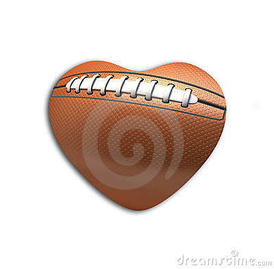 Football Ball  in the shape of heart
