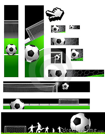 Free Football Banners Collection Royalty Free Stock Photo - 5372575
