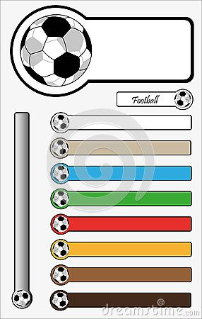 Football Button Sticker