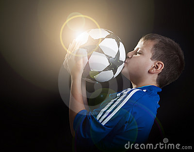 Football champion with flare