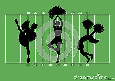 Football Cheerleaders 3