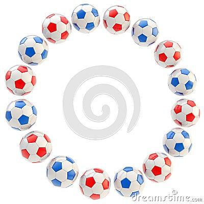 Football circle frame background isolated