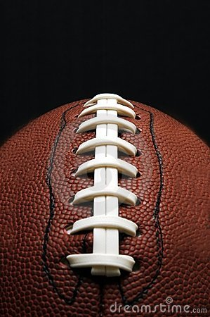 Football Closeup with Copy Space