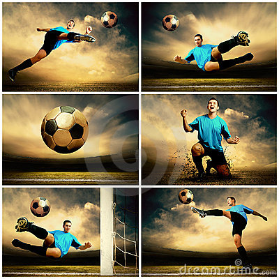 Free Football Collage Royalty Free Stock Photo - 17100815
