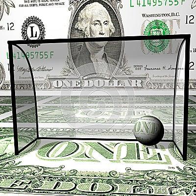 Football, dollar ball in collars