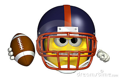 Football Emoticon - with clipping path